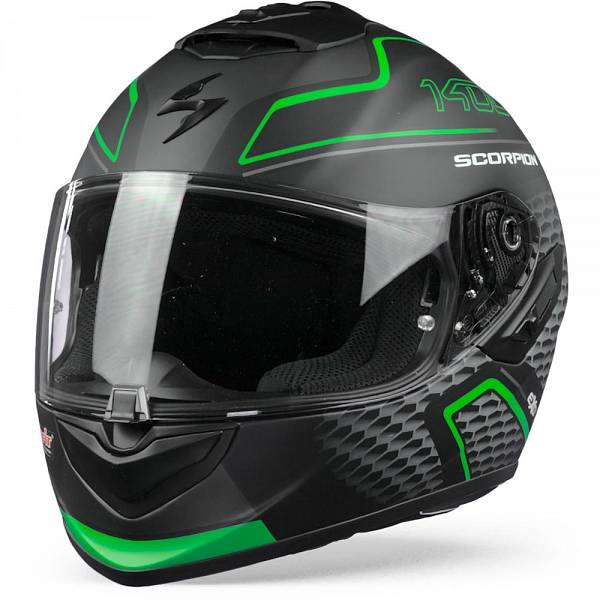 Scorpion EXO-1400 Air Galaxy Casque IntŽgral Vert Mat 2XL